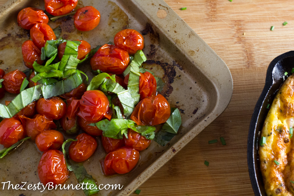 Roasted Cherry Tomatos and Basil
